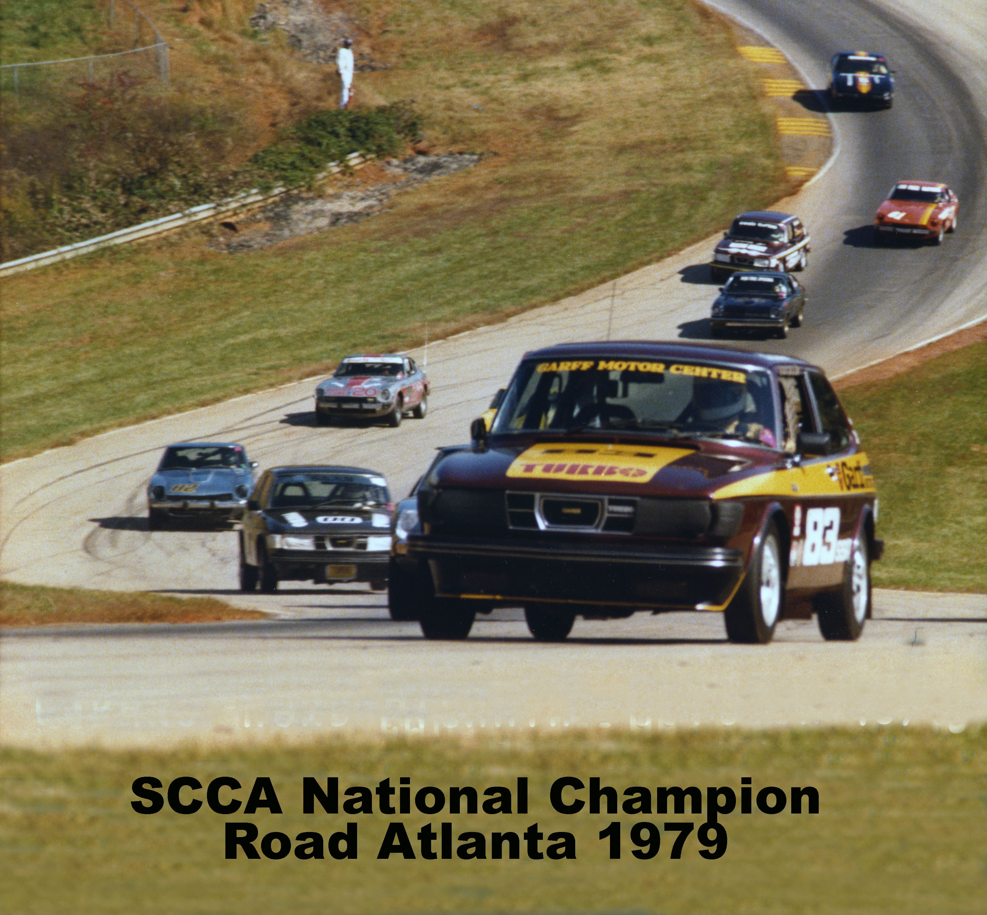 Car 52 Saab 99 Turbo My First Scca National Championship 10 27 79 Class Ssa It Was The Best Scca Runoffs Of Race Cars Race Car Driving National Champions
