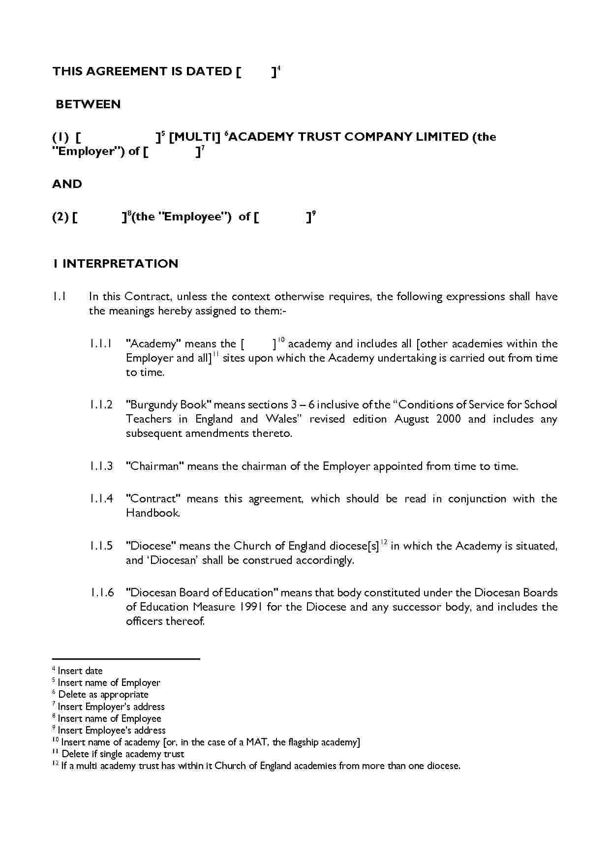 Leave Of Absence Agreement Agreement Templates