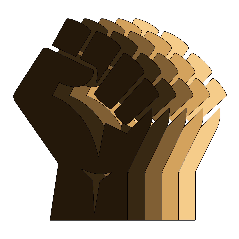 Blm Fist 5 Shades Glossy Sticker By Pureaesthetix In 2021 Black Lives Matter Art Black Lives Black Lives Matter