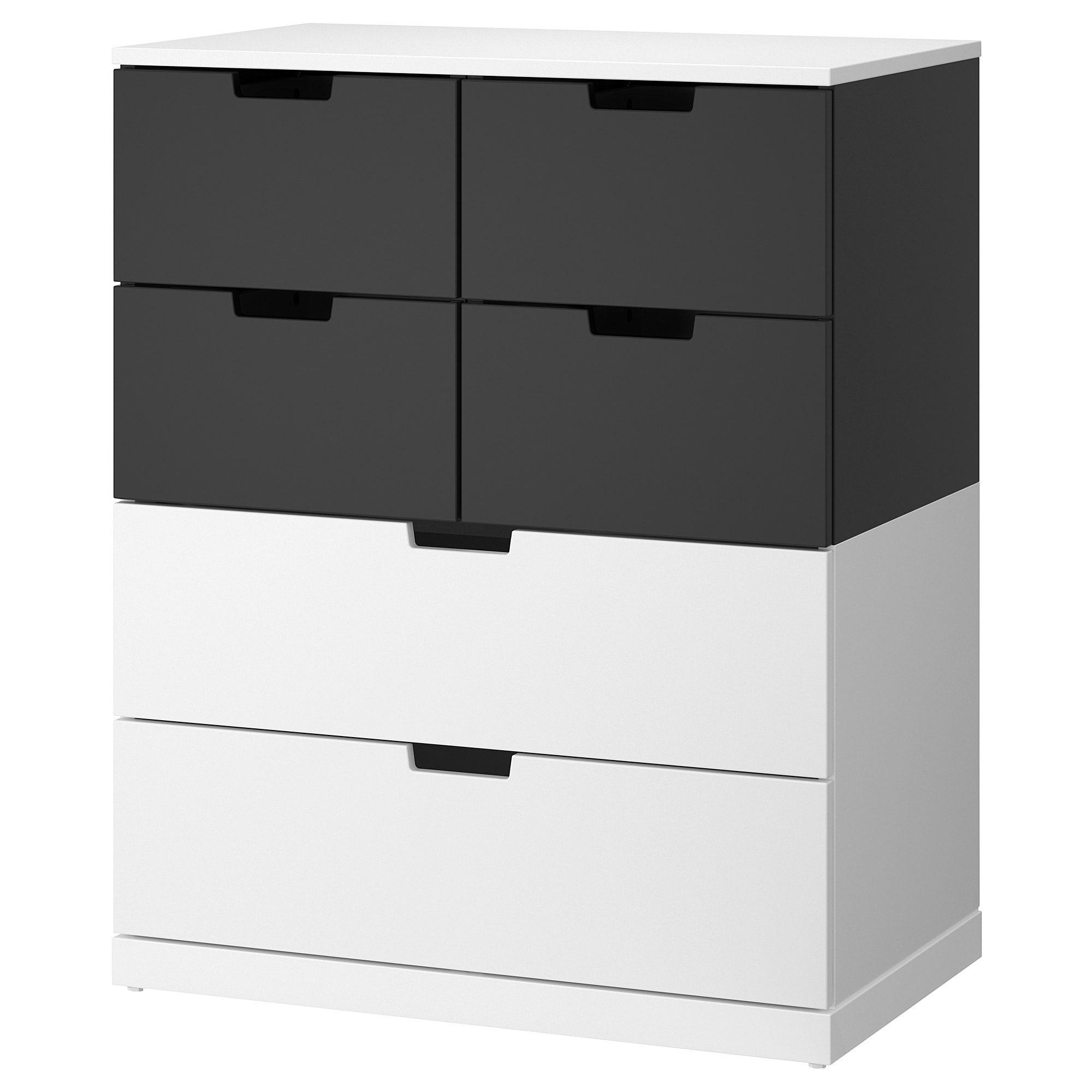 Nordli Ladekast Met 6 Lades Wit Antraciet 80x99 Cm Ikea Ladekast Lades Wanden [ 2000 x 2000 Pixel ]