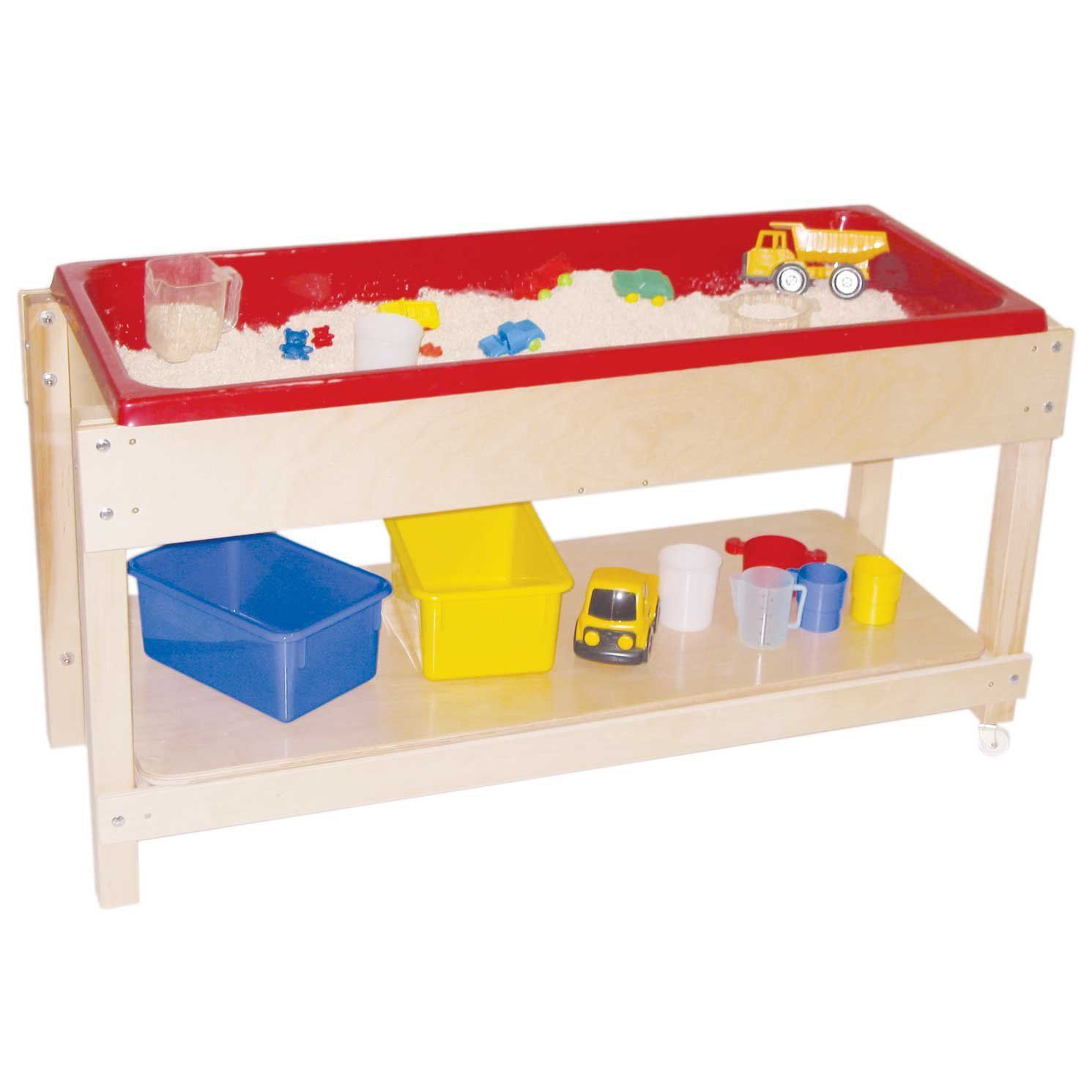 amazon com wood designs wd11810 sand and water table with top shelf rh pinterest ca