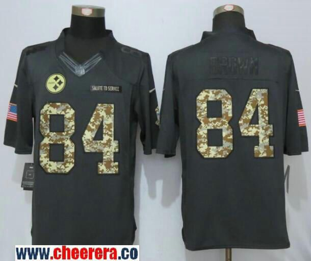 6f4b0cedb 43 troy polamalu limited black 2016 salute to service jersey 75230 03bb9;  czech mens pittsburgh steelers antonio brown black anthracite 2016 salute  to ...