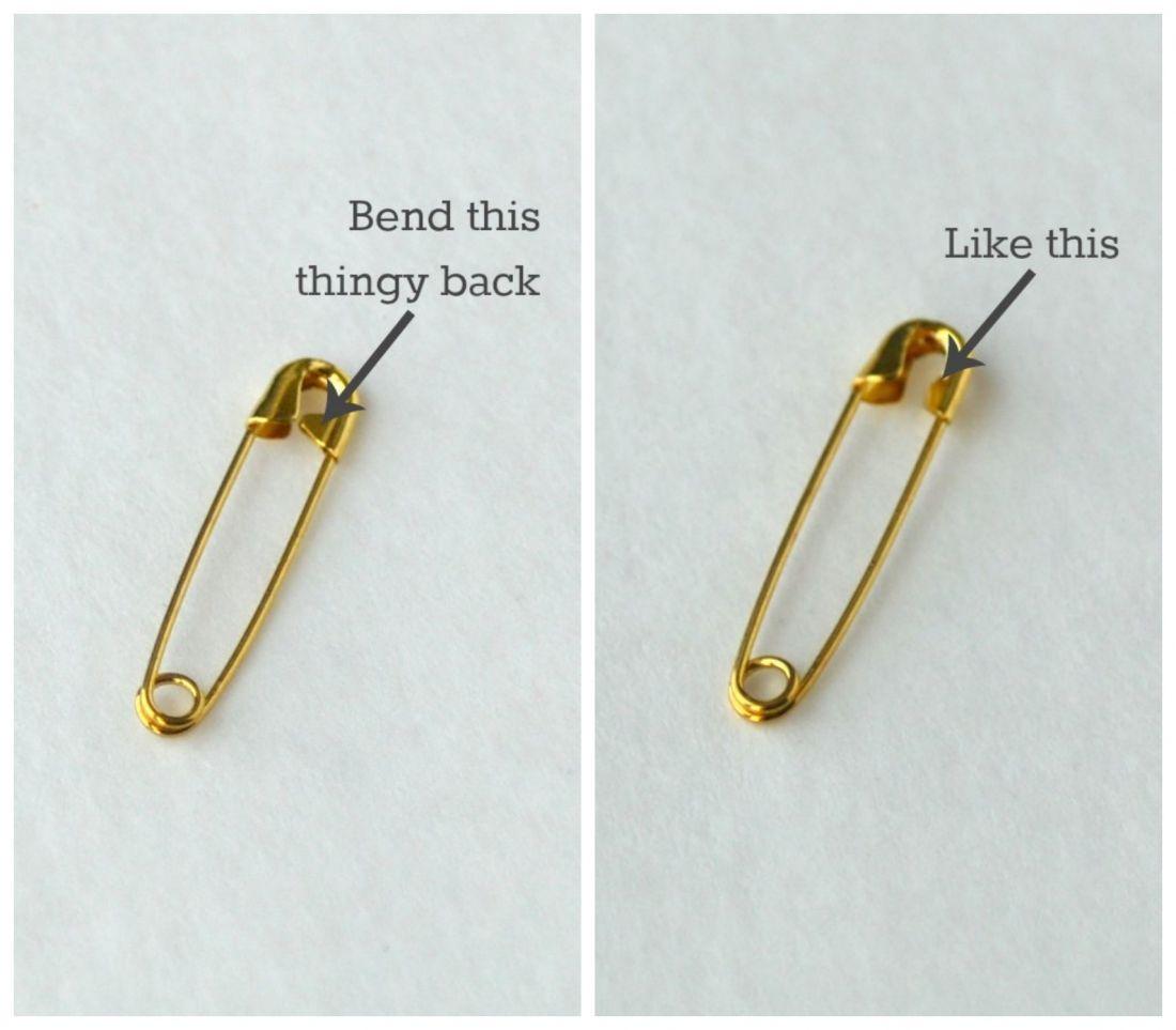 safety pin bracelet tutorial