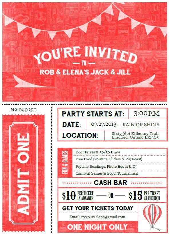 Youre Invited Vintage Carnival Invite For Jack And Jill Party