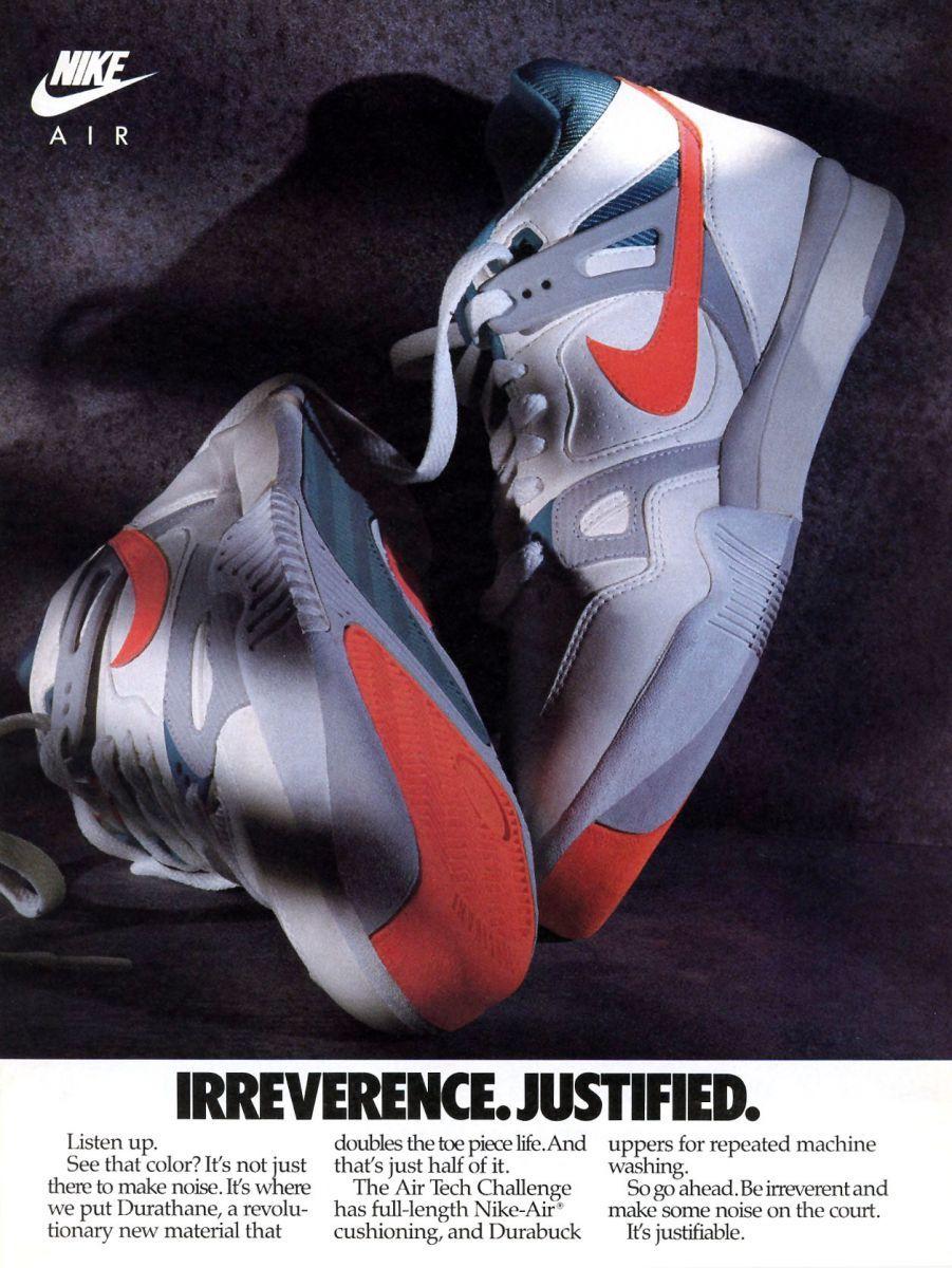 Vintage Ad: Nike Air Tech Challenge | Vintage nike, Nike