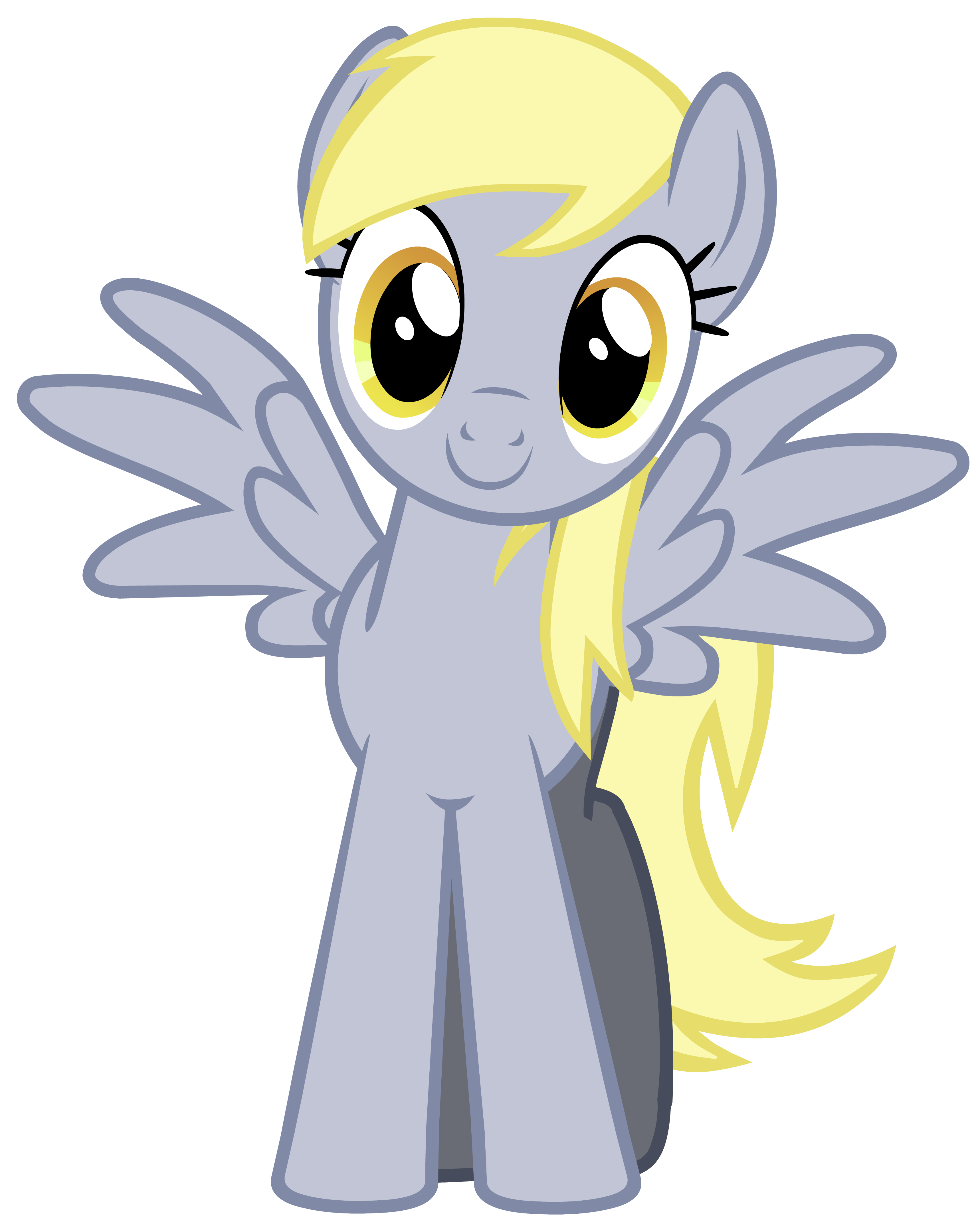 Vector of Derpy Hooves with her eyes fixed. | Derpy hooves ...