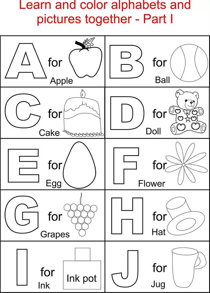 Alphabet Worksheets For Toddlers – Kids Learning Activity In 2020  Kindergarten Coloring Pages, Abc Worksheets, Abc Coloring Pages