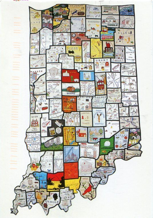 Quilt Map of Indiana | Map quilt