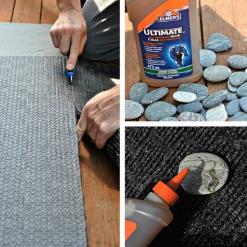 Natural Looking Diy Rock Doormat Shelterness Door Mat Diy Trivets Diy Diy