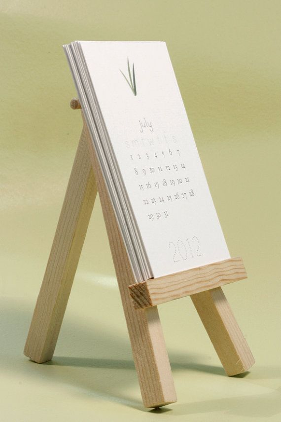 Simple sweet 2012 desktop easel calendar
