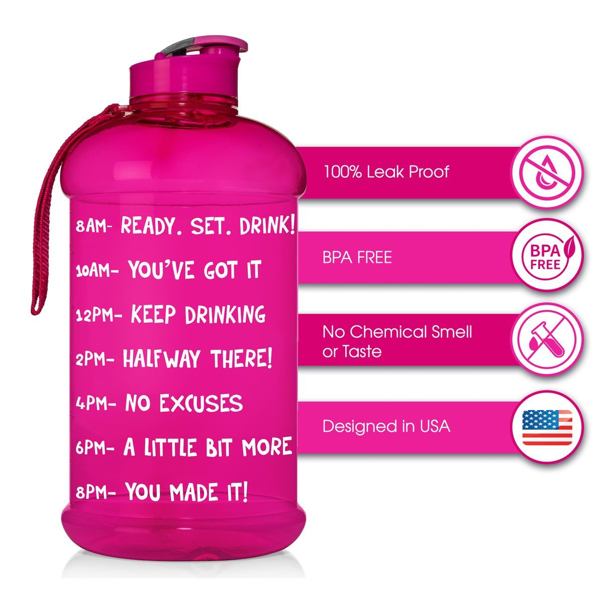 Pin By Sharlett On Ceo Bpa Free Water Bottles Selling 25 Motivational Water Bottle Water Bottle With Times Bottle