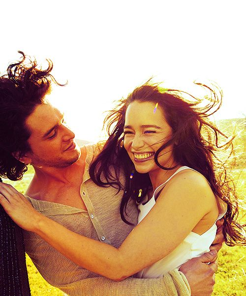 kit harrington & emilia clarke, game of thrones a.k.a my two favorite people