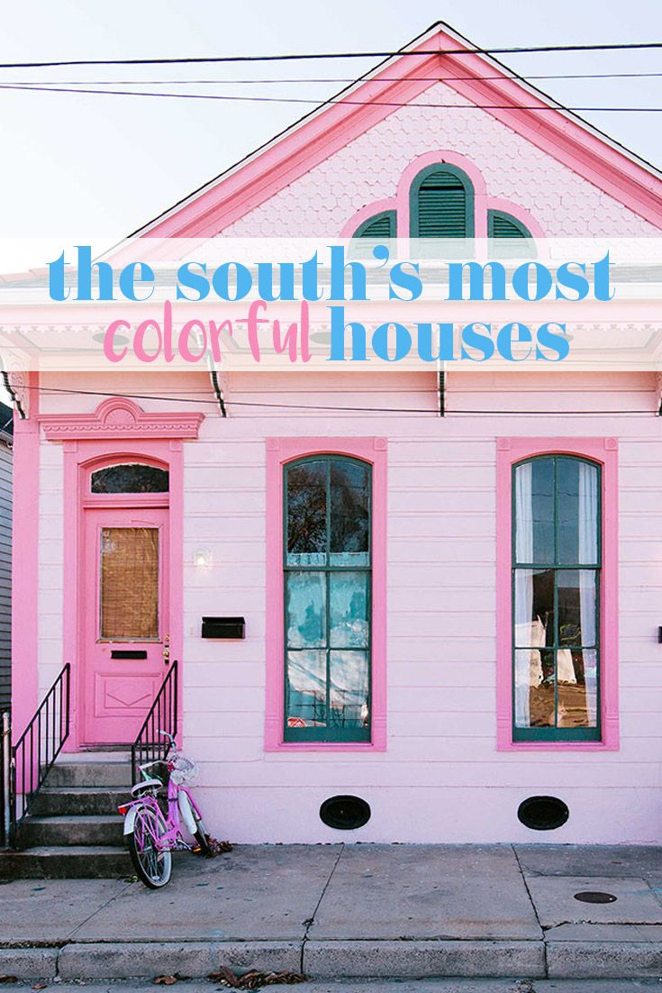 The Most Colorful Houses in the South | Bright, House and Spaces