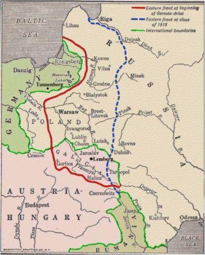 polish border strip ww1 Poland German Occupation in WW1 1915