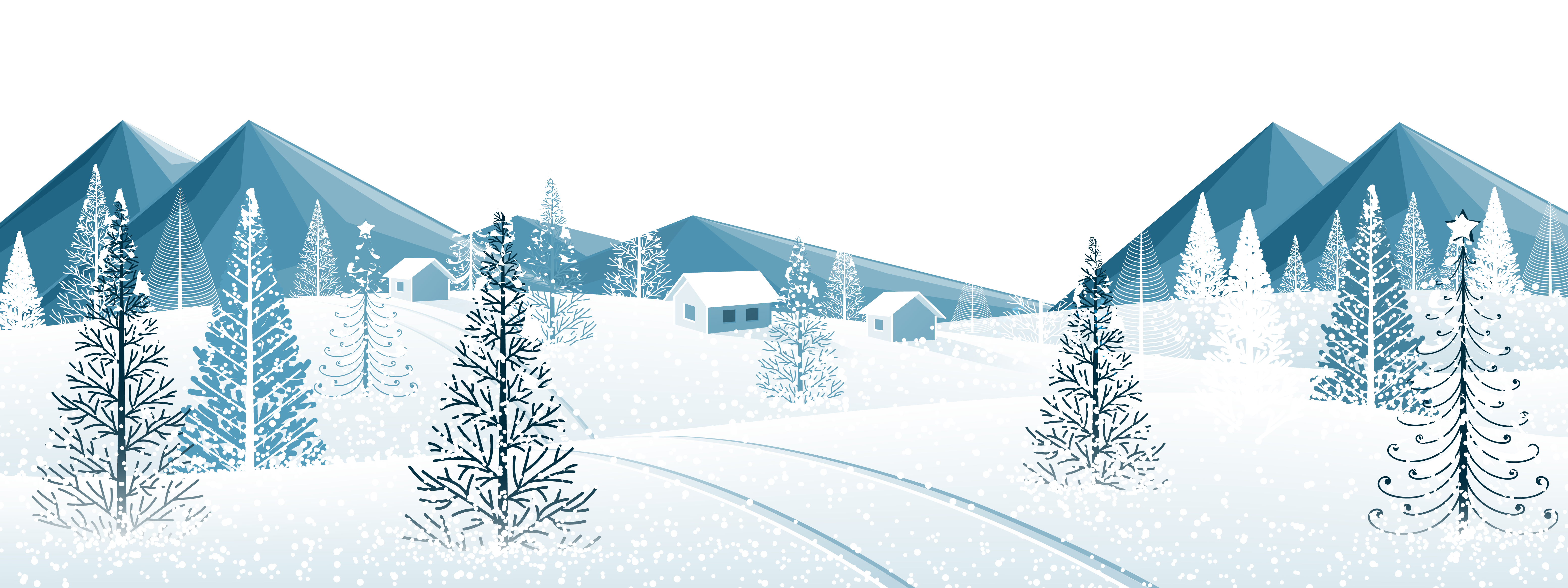 Winter Ground with Trees PNG Clipart Image   Gallery ...