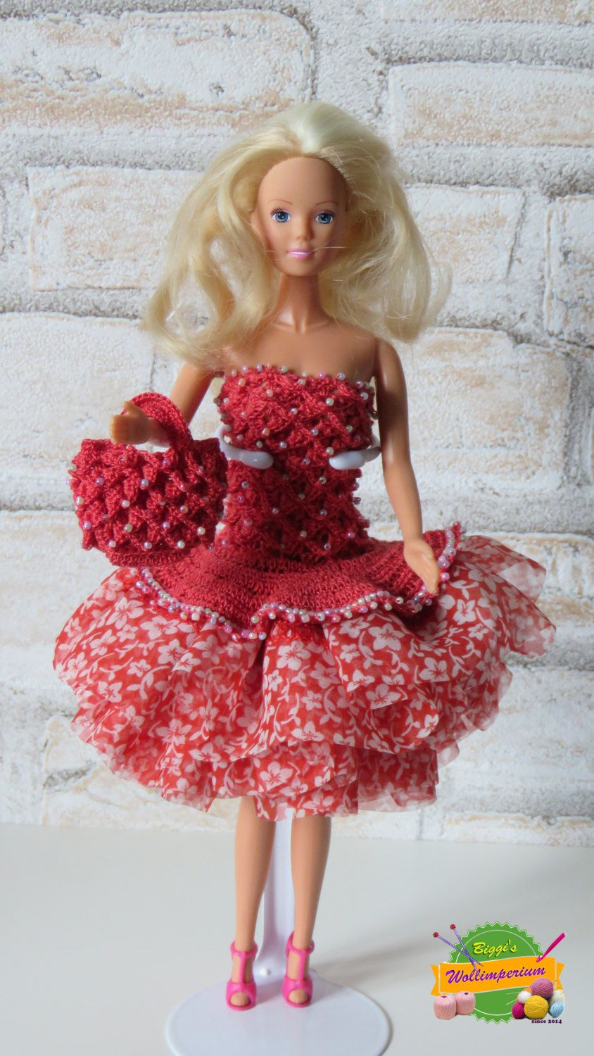 Dress for Barbie doll | Pinterest | Barbie, Puppe und Puppenkleider