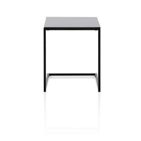 Beistelltisch Clean Chic Metall Glas Vorderansicht Furniture