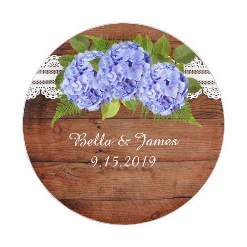 Rustic Lace Blue Hydrangea Wedding Paper Plate | Rustic Wedding ...