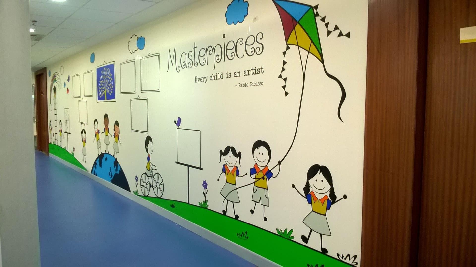 Mockingbird Studios Mumbai Customized Wall Graphics Decals Wallpapers Canvas Schools 7 School Wall Graphics Graphic