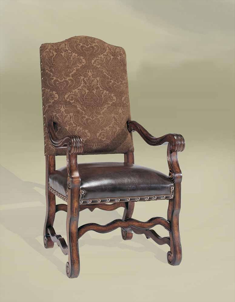 3-Furnishings. Leather and wood are incorporated into the furniture ...