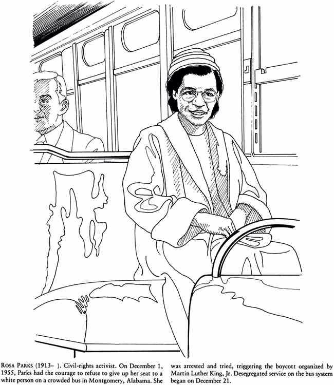 Rosa Parks | Coloring Books | Coloring pages for kids, Color ...