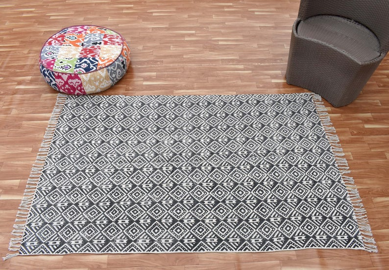 Turkish Handmade large 8x10ft Indian rug /runner mat /carpet / area rug /home decore/ Block p...