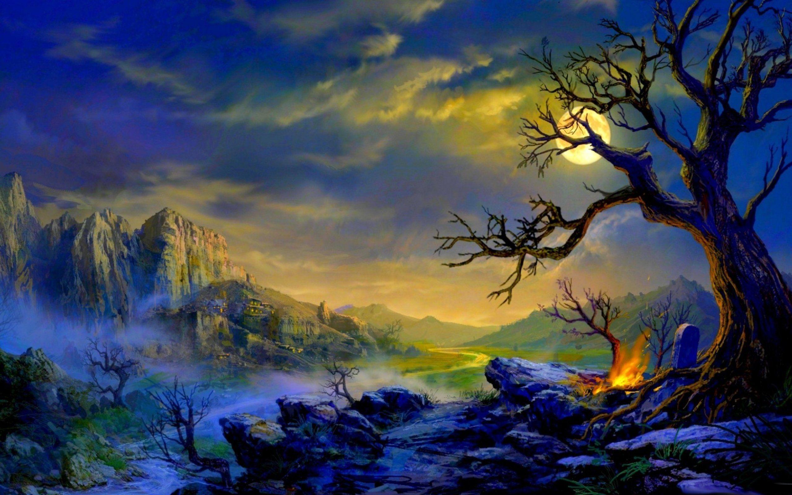 Fantasy Landscape Art Artwork Nature Scenery Wallpaper 2560x1600 Fantasy Landscape Scenery Wallpaper Landscape Art