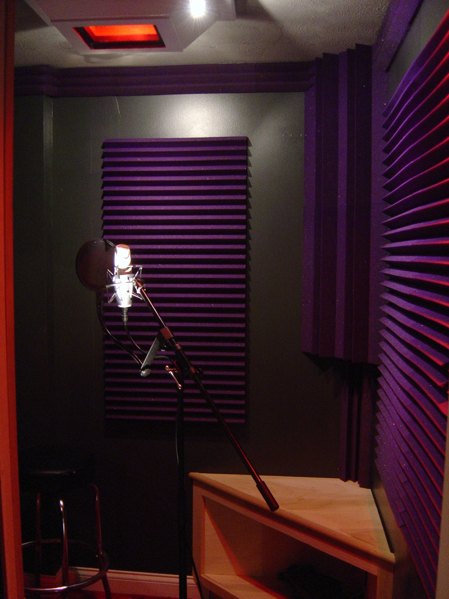 Purple vocal booth diplomdarbs pinterest purple for Home with recording studio for sale