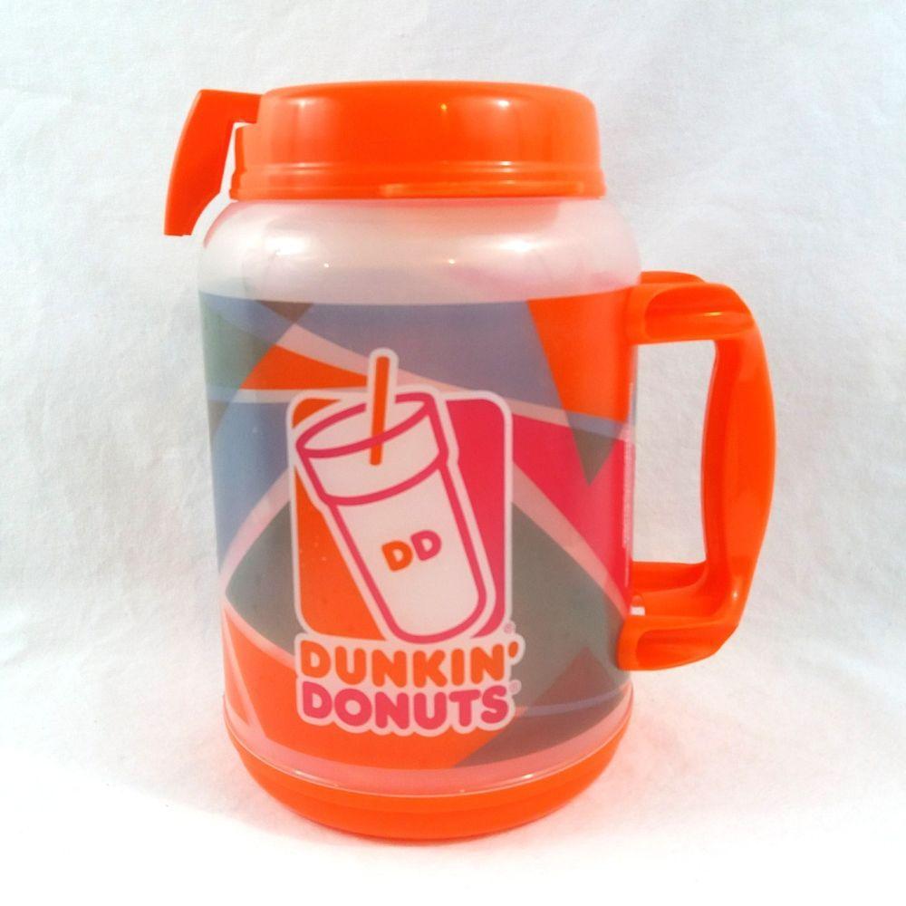 2017 Dunkin Half Donuts Oz Huge Gallon 64 Jumbo Mug Whirley Travel txQCsrhd