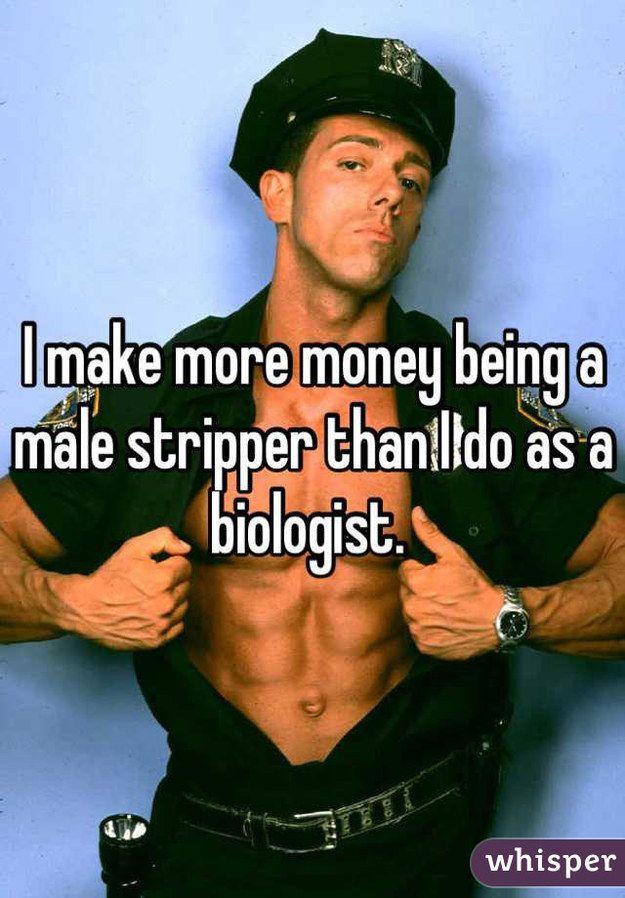 confessions Male stripper