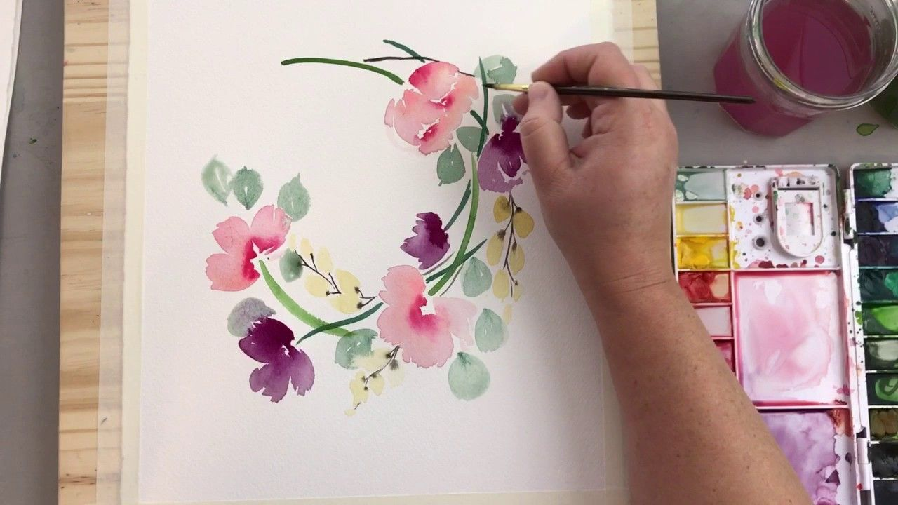 Ring Of Poppies Watercolor Process Video Watercolor Flowers