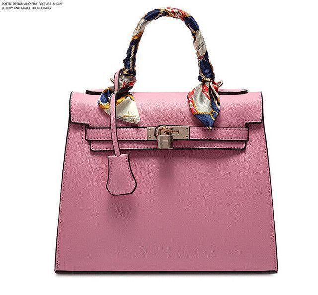 d7056aa692 Women Messenger Bags Ladies Tote Small shoulder bag woman brand leather  handbag crossbody bag with scarf lock designer bolsas