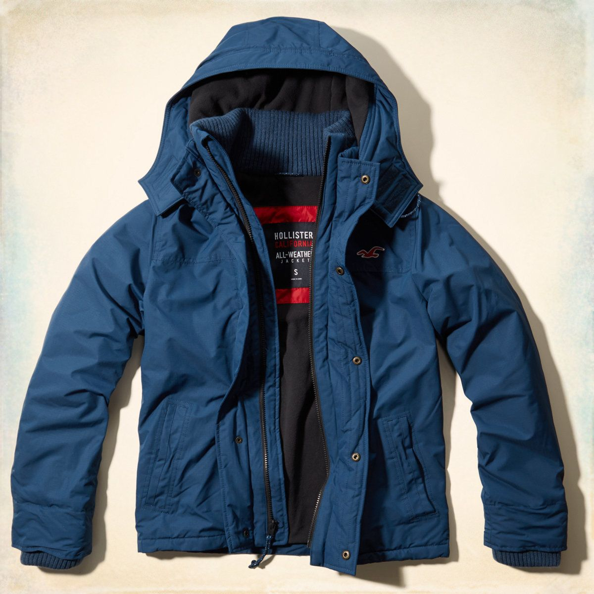 The Hollister All Weather Ja From Hollisterco Com On Wanelo All Weather Jackets Jackets Outerwear Jackets [ 1200 x 1200 Pixel ]
