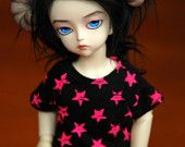 $15 YoSD Black And Pink Star T Shirt For BJDs