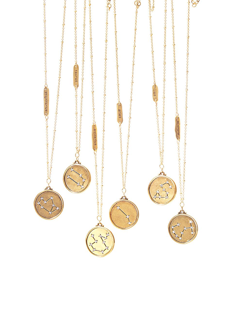 337f2b28f31b27 These 22-kt-gold-plated necklaces, featuring zodiac constellations  punctuated with sparkly crystals, make a great, glittery gift even when  Mercury is in ...