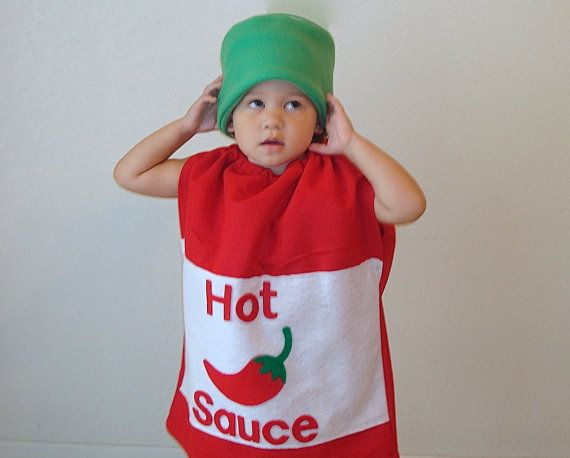 Kids Costume Hot Sauce Costume Halloween Costume Chili Pepper Toddler Baby Adult Food  sc 1 st  Pinterest & Kids Costume Hot Sauce Costume Halloween Costume Chili Pepper ...