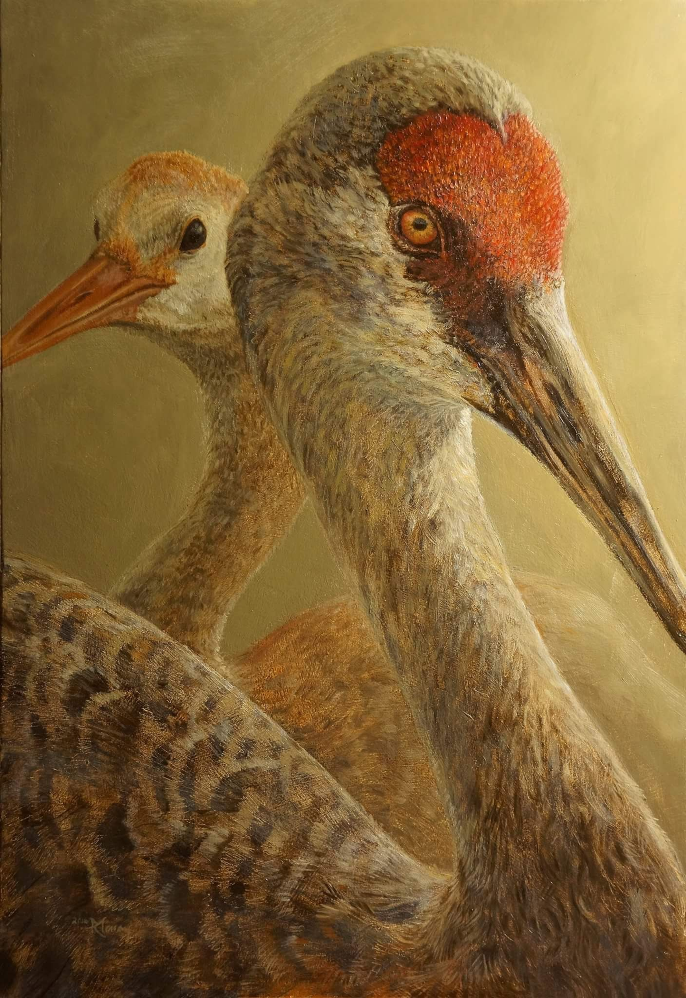 Exquisite crane art