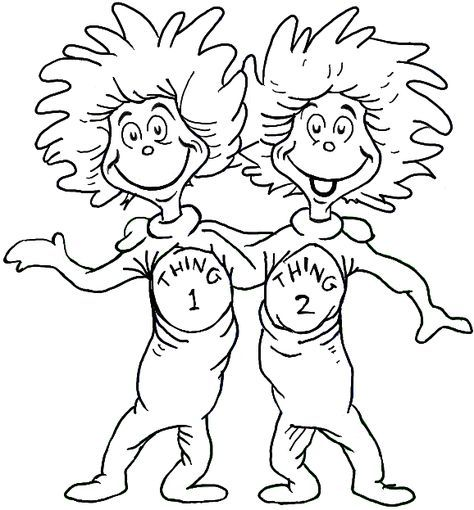 thing 1 and thing 2 coloring pages Thing 1 And Thing 2 Coloring Page | Dr. Seuss | Dr seuss coloring  thing 1 and thing 2 coloring pages