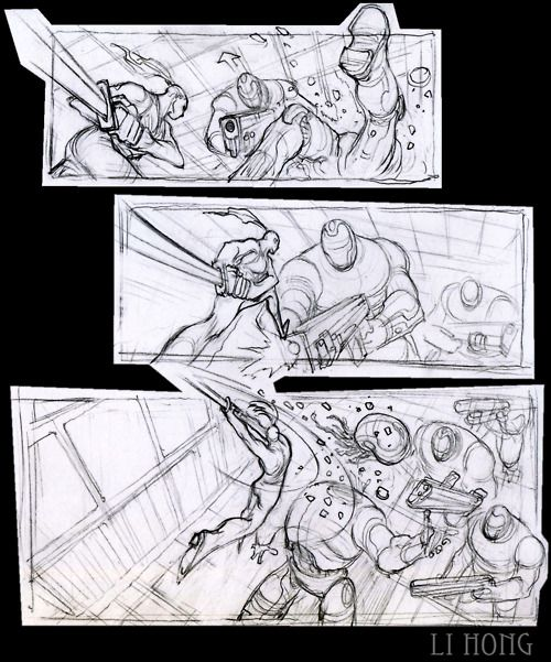 Li Hong Storyboards Storyboard Artist Comic Book Layout Storyboard