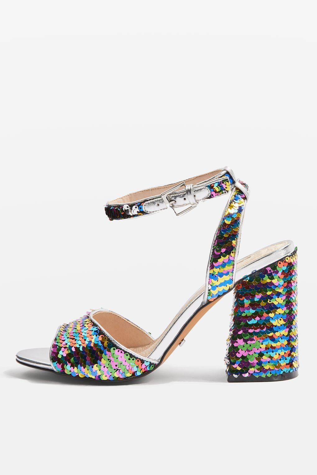 62cfd41f20a Reaction Sequin Embellished Block Heel Sandals - Shoes