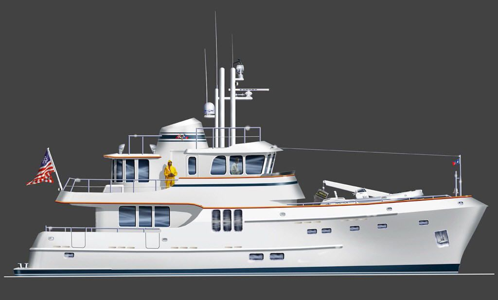 Seaton Yachts - 70' Expedition Trawler Yacht Design by