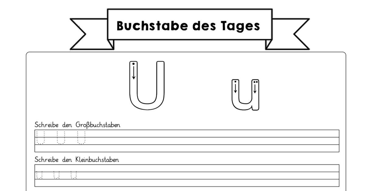 Buchstaben U-Z.pdf | Deutsch | Pinterest