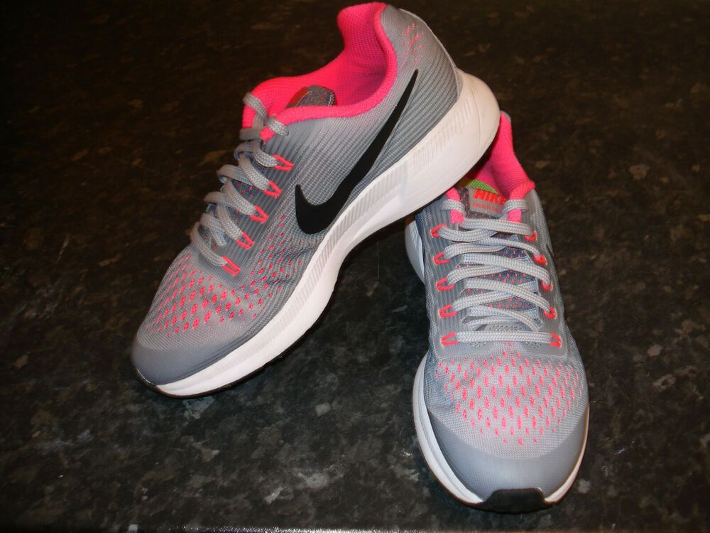 f107566775e9e Womens Sneakers Nike Air Zoom Winflo 5 Pure Platinum White Wolf Grey Bright  Crimson AA7414 005