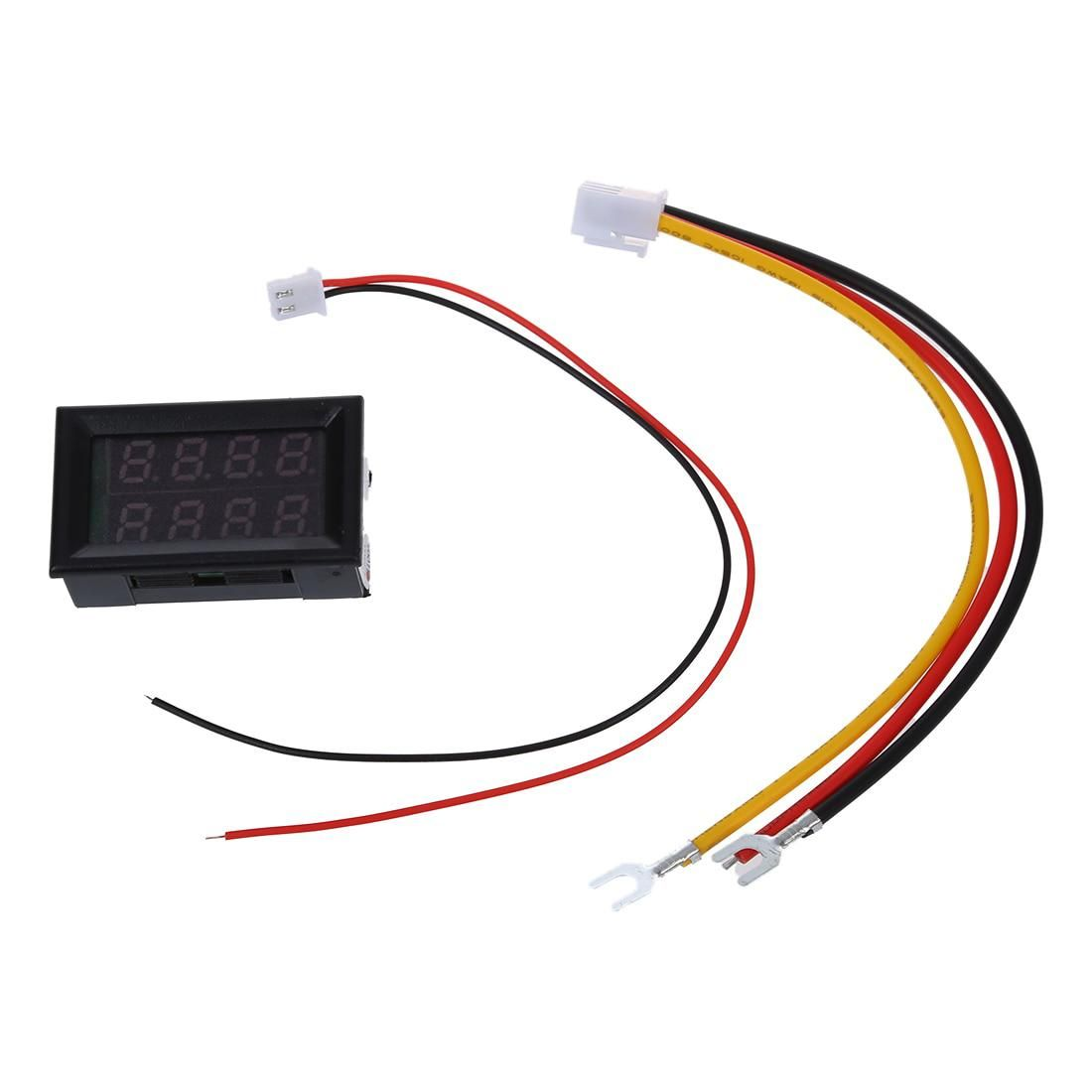 Voltmeter Ammeter Digital Multimeter Panel Meter Led Blue Wiring And Amp Red Yesterdays Price Us