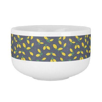 Lemon Drop Pattern Soup Bowl - pattern s&le design template diy cyo customize  sc 1 st  Pinterest & Lemon Drop Pattern Soup Bowl - pattern sample design template diy ...