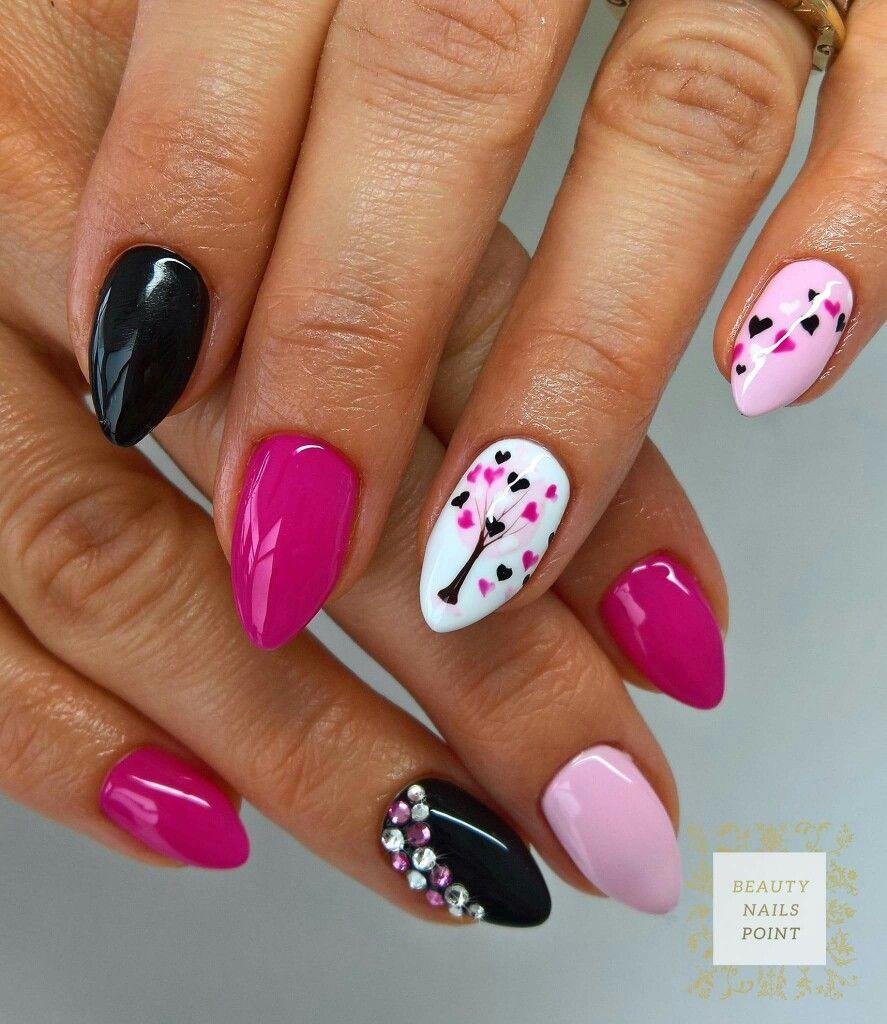 Playful love nail design - nagels | Pinterest - Nagel, Nagelideeën ...