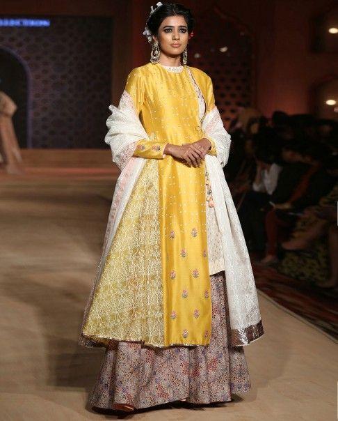 Bajirao Mastani Yellow Printed Kurta Set | Fashion, Asian ...