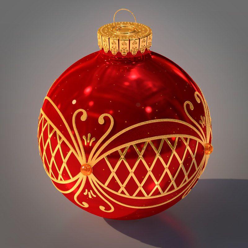 Christmas Ball 3d Ma Christmas Balls Christmas Bulbs Christmas
