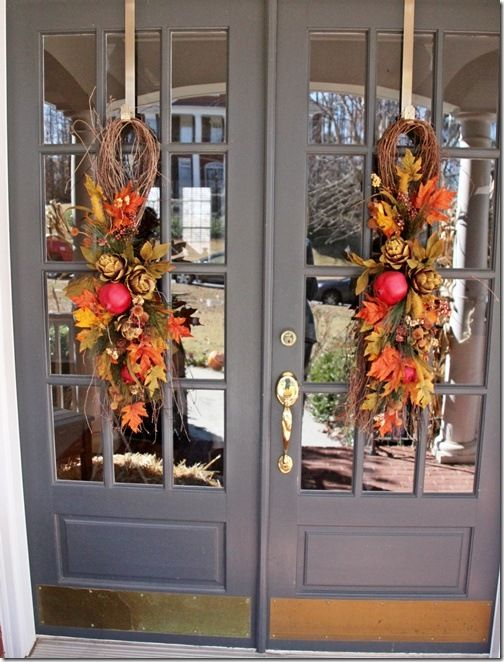 Family Thanksgiving Southern Hospitality Fall Outdoor Decor Fall Front Door Double Door Wreaths