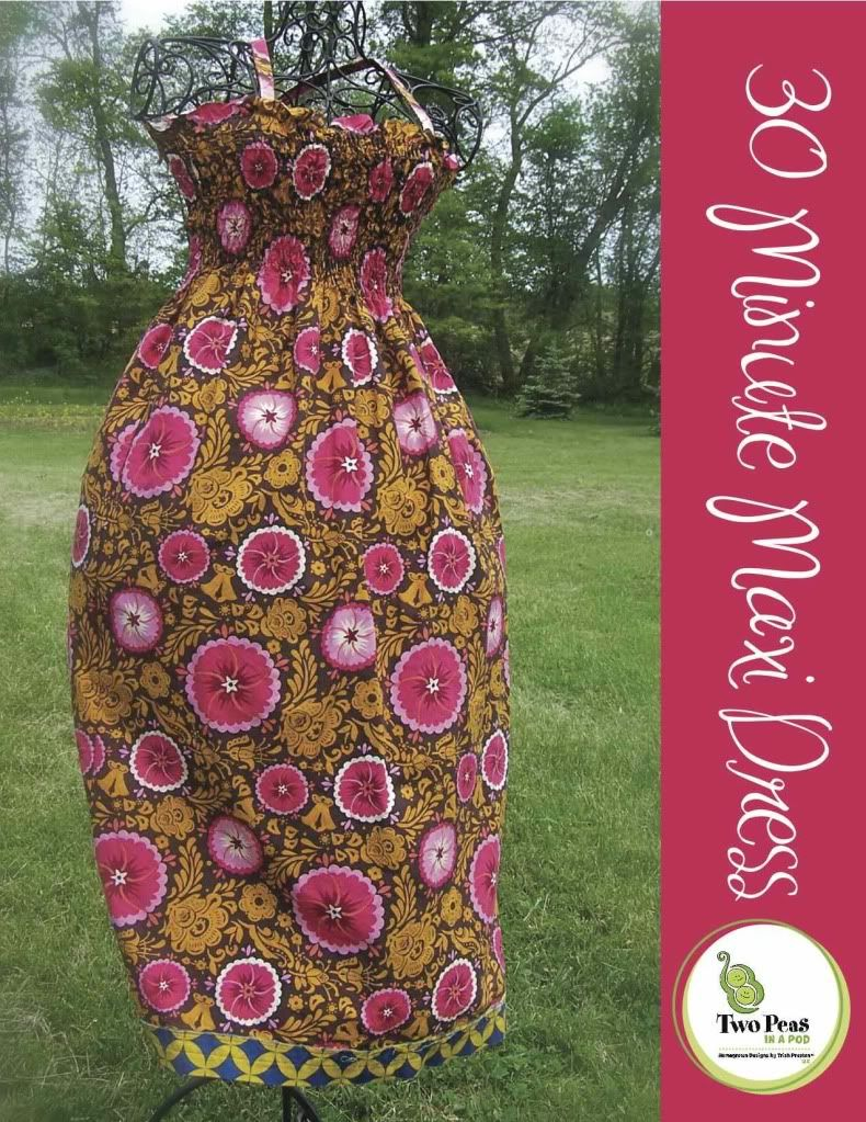 Looks simple and love the name of this site! 2 peas in a pod 30 Minute Maxi Dress